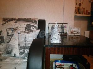 газетная елка в интерьере