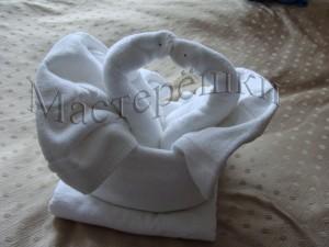 27 белые лебеди из полотенец copy