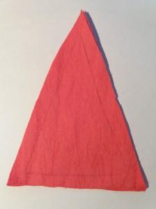 вырезали треугольник